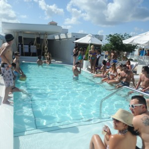 Poolside Crowd