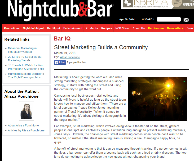 2014 April Nightclub and Bar - p1 - Street Marketing
